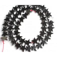 Бусины Звездочки (черные)